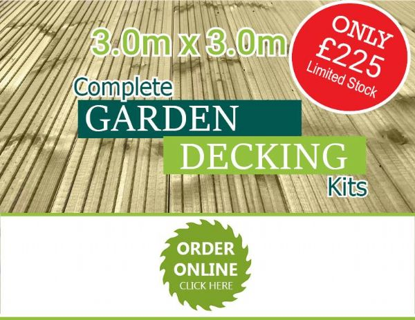 3.0m x 3.0m Decking Kit (10ft x 10ft Approx)